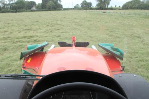 Excellent visibility from the tractor cab.