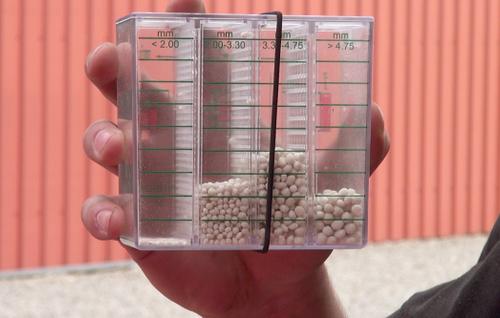 Коробка с размерами зерна